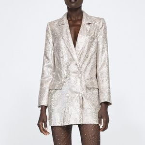 Zara SEQUINED BLAZER
